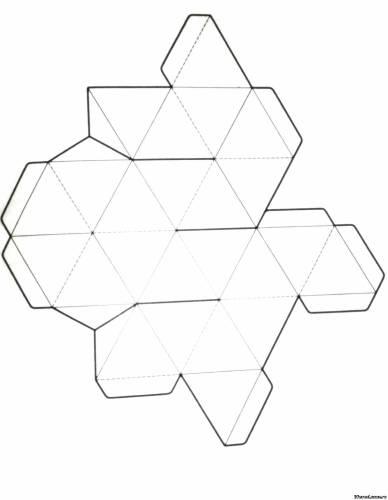 Как сделать объемные геометрические фигуры из бумаги (схемы) 84